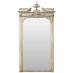 19th Century French Renaissance Overmantel Mirror