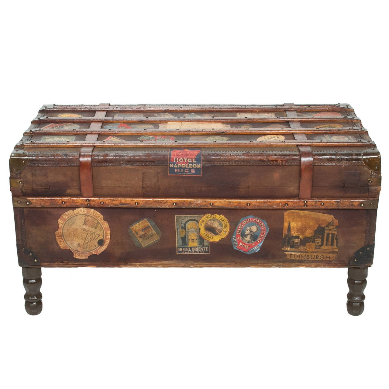 Vintage travel trunk coffee table by arthur eymann from marseille france at 1stdibs Trunk coffee tables