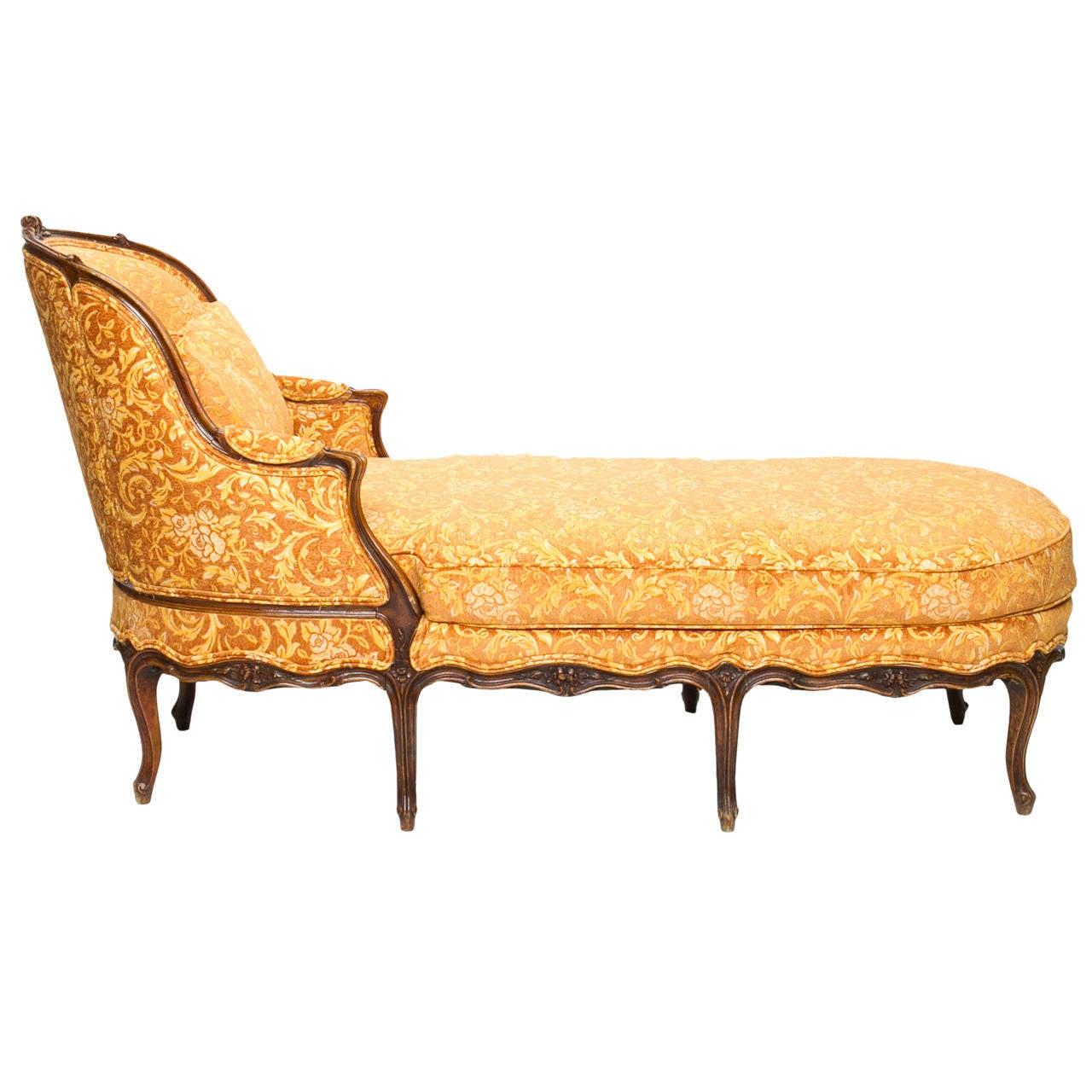 19th century louis xv chaise longue at 1stdibs for Chaise louis xv