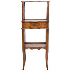 Provincial Walnut Standing Etagere from the 19th Century