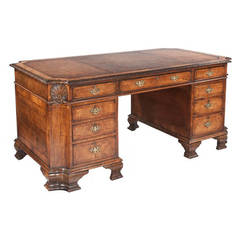 19th Century Chippendale Style Walnut Desk