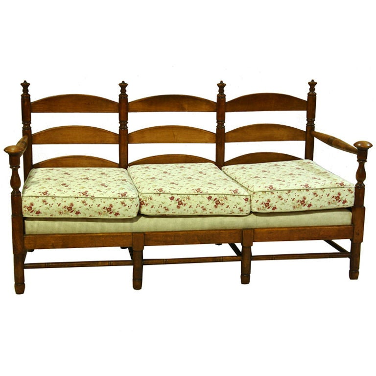 Stickley Country Ladder Back Bench At 1stdibs