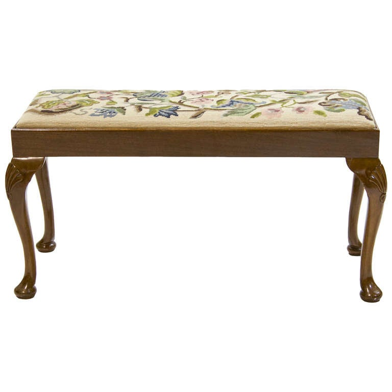 19th century queen anne bench with tapestry seat at 1stdibs