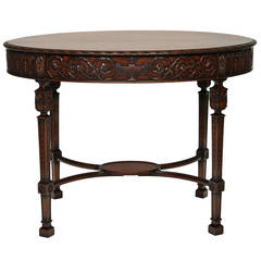19th Century Oval Sheraton Style Centre Table