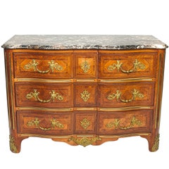 Late 19th Century Regencé Marble-Top Commode