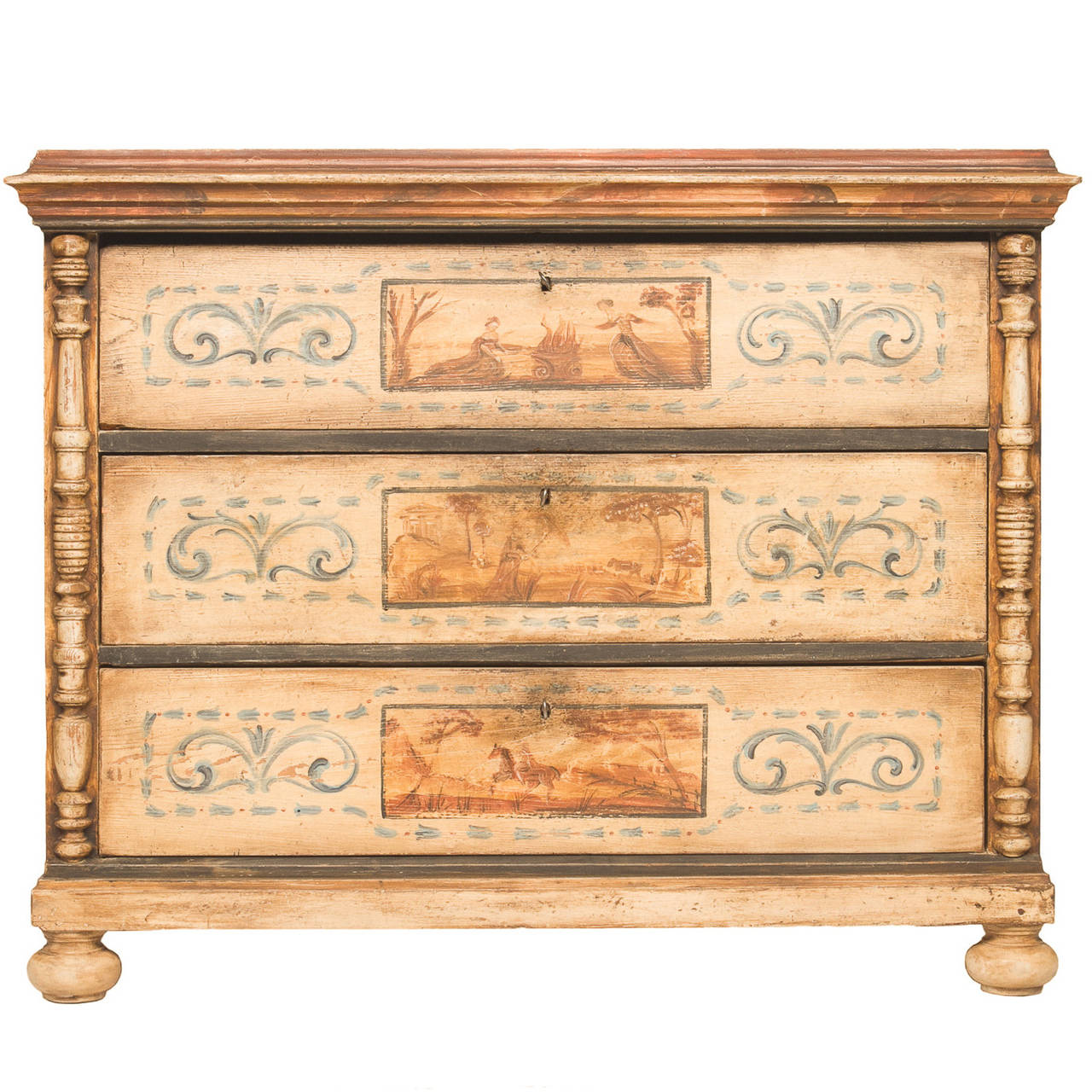 18th Century Painted Commode from Europe
