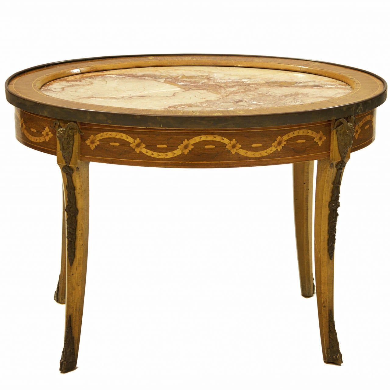 19th century italian oval table with marble insert at 1stdibs