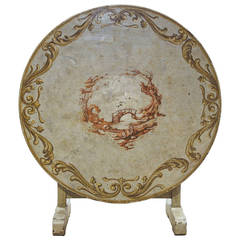 19th Century Wine Tasting Table with Vintage Painting