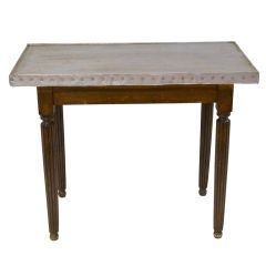 French Bistro Table With A Zinc Top
