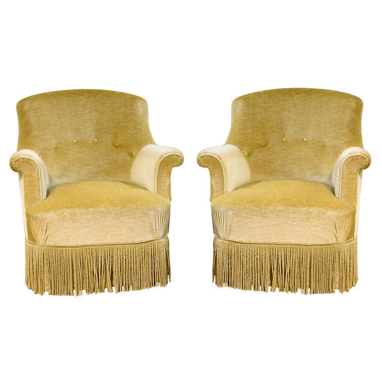 A pair of elegant french fauteuil crapaud at 1stdibs - Fauteuil crapaud vintage ...