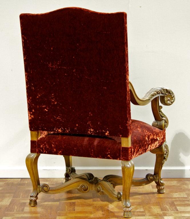 Italian Sofa Brent Cross: Italian Rococo Walnut Arm Chair At 1stdibs