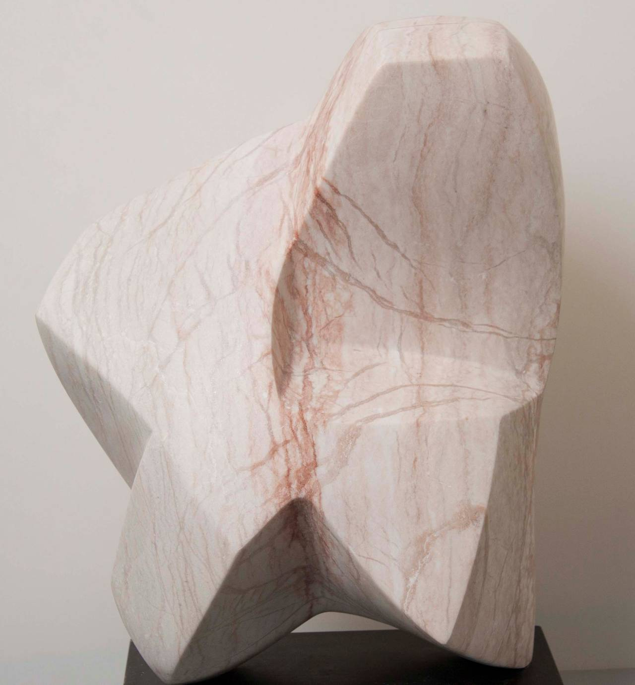 This beautiful marble sculpture by Emile Gilioli is made of rose veined marble (white/pink). The sculpture is signed and dated on wooden base.