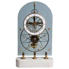 French Glass Skeleton Clock