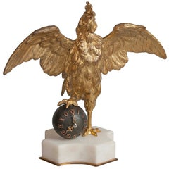 19th Century French Rooster Clock