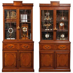 Rare Near Pair of Regency Bookcases