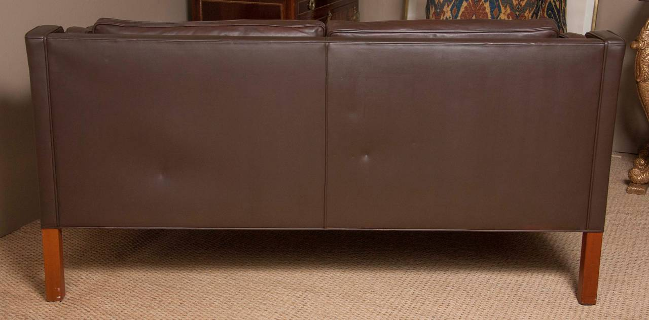 Leather Sofa by Børge Mogensen For Sale 3