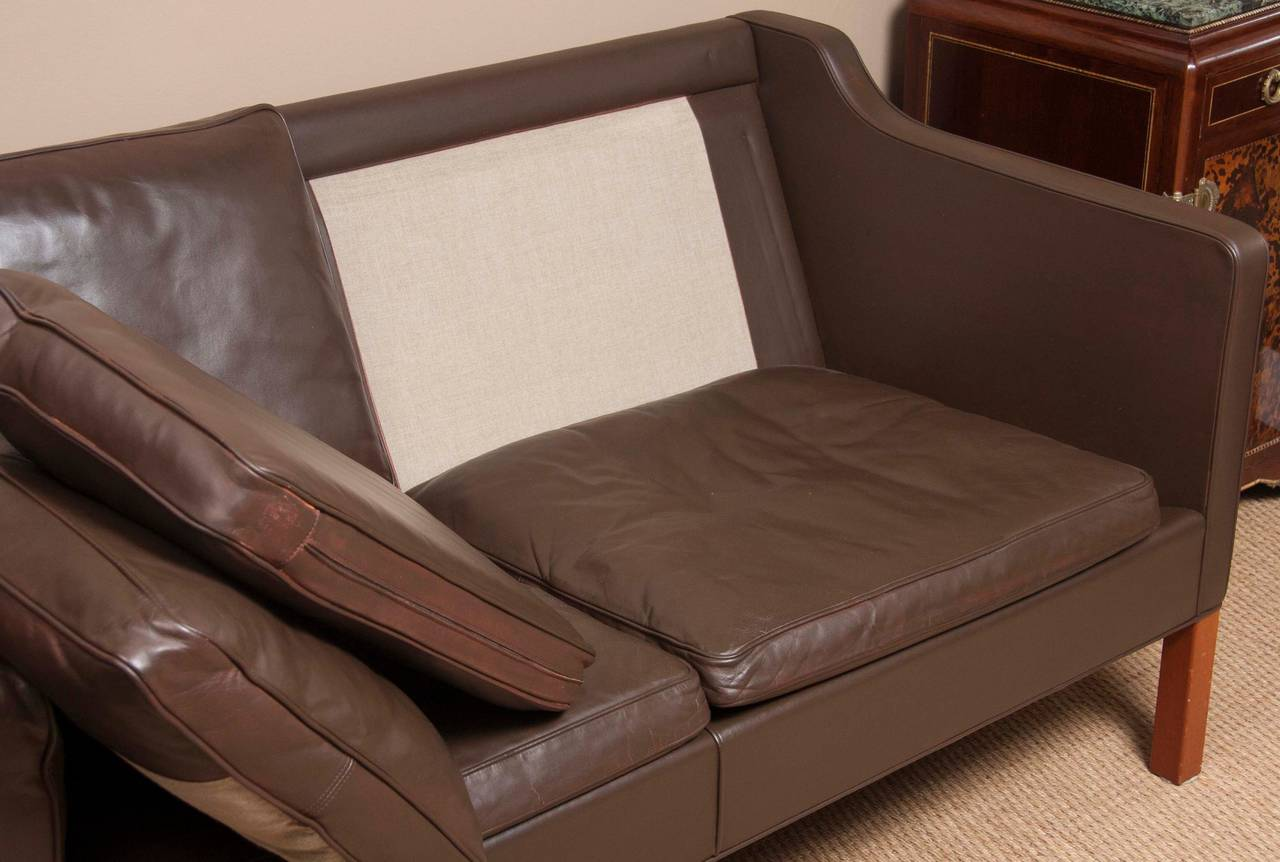 Leather Sofa by Børge Mogensen For Sale 1