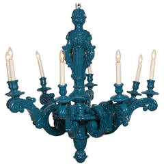 Louis XIV Style Lacquered Chandelier