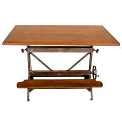 Industrial Steel Drafting Table