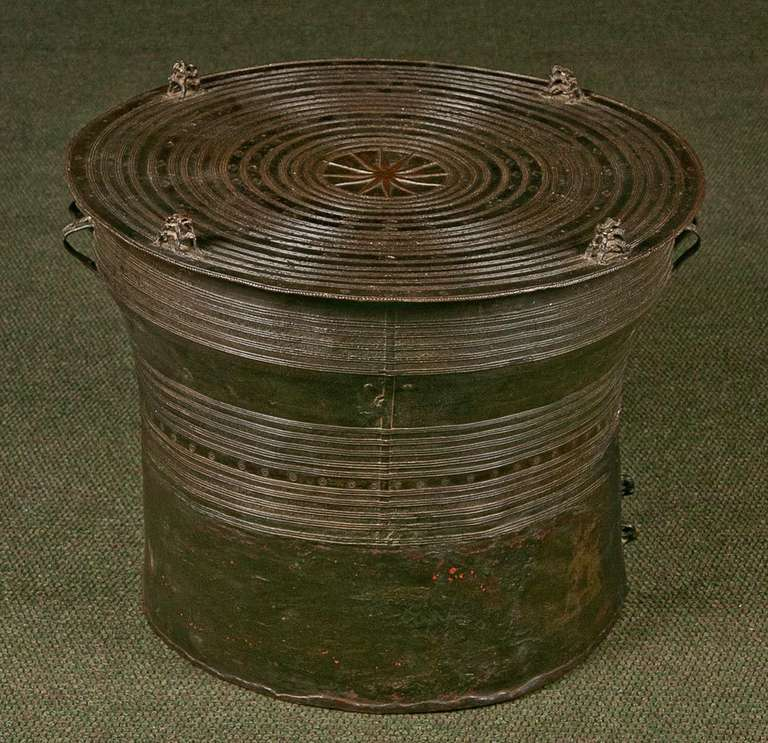 Southeast Asian Bronze Rain Drum For Sale At 1stdibs
