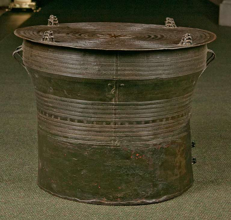 Southeast Asian Bronze Rain Drum At 1stdibs