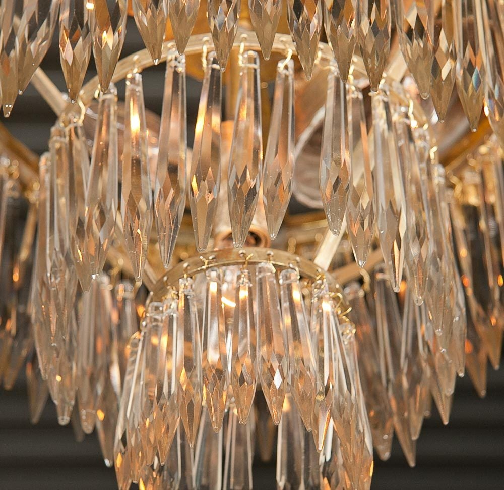 20th Century Set Of Two French Triple Tier Chandeliers For Sale