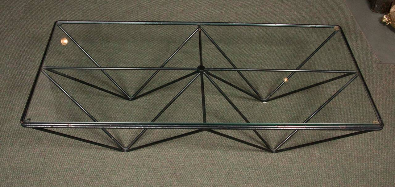 Metalwork Alanda Coffee Table in the Style of Paolo Piva For Sale