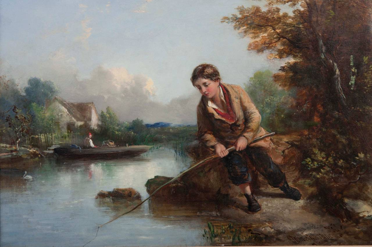 An oil on canvas by English artist, Tom Lawrance,