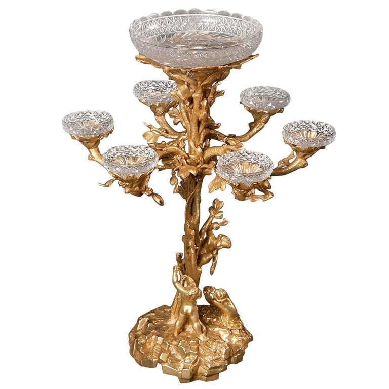 Beautifully Gilded Monumental Bronze Center Bowl