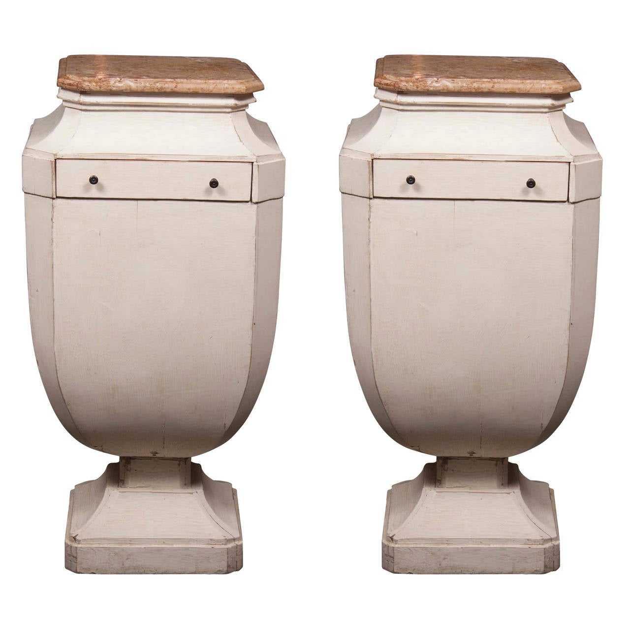 Pair of 19th Century Gustavian Pedestals in Urn Form