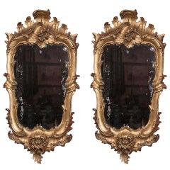 Pair of Gilt Florentine Mirrors
