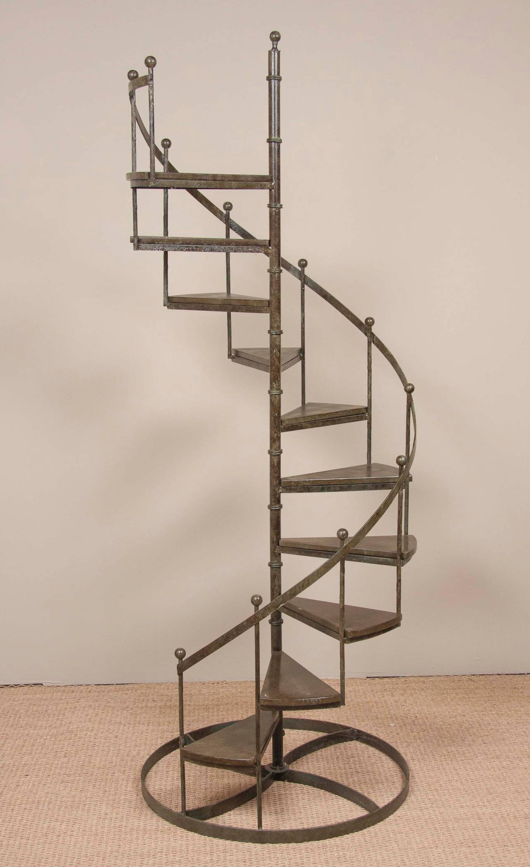 Circular Wrought Iron Display Staircase At 1stdibs
