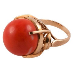 Coral Ball Ring