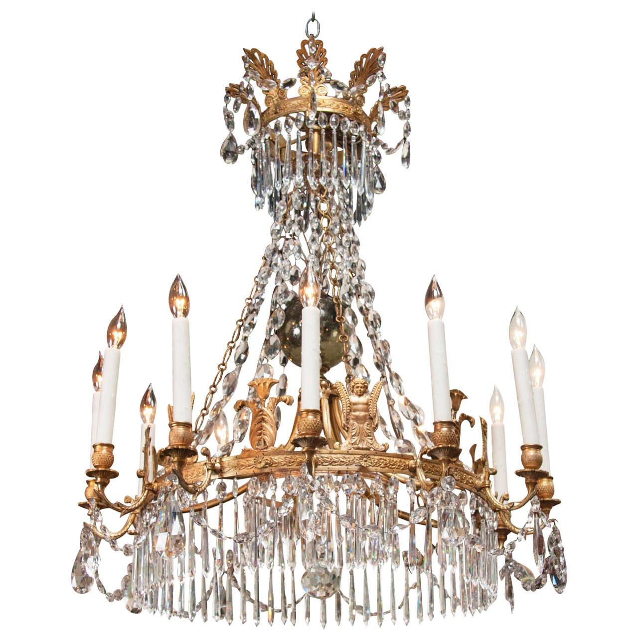 Russian Neoclassical Empire Twelve-Light Chandelier For Sale at ...