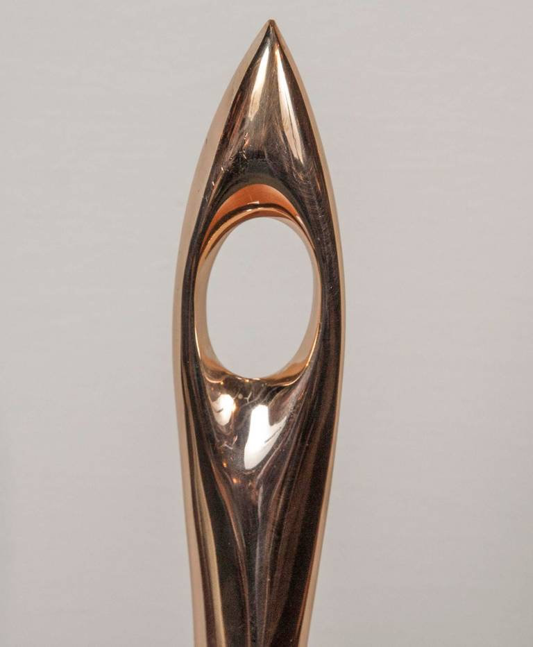 Bronze Abstract Sculpture by Antonio Kieff, 1960s For Sale 2