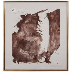 """Robert Motherwell lithograph entitled """"Poe's Abyss"""""""