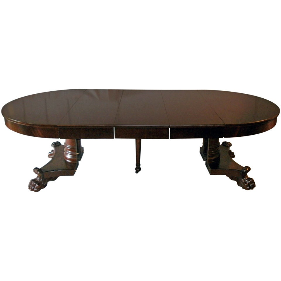 American Empire Period Dining Table For Sale