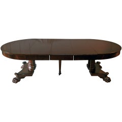 American Empire Period Dining Table