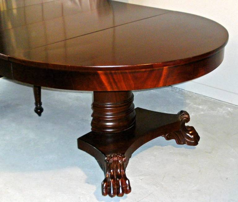 American Empire Period Dining Table For Sale 3