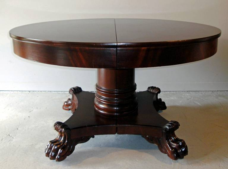 American Empire Period Dining Table For Sale 1