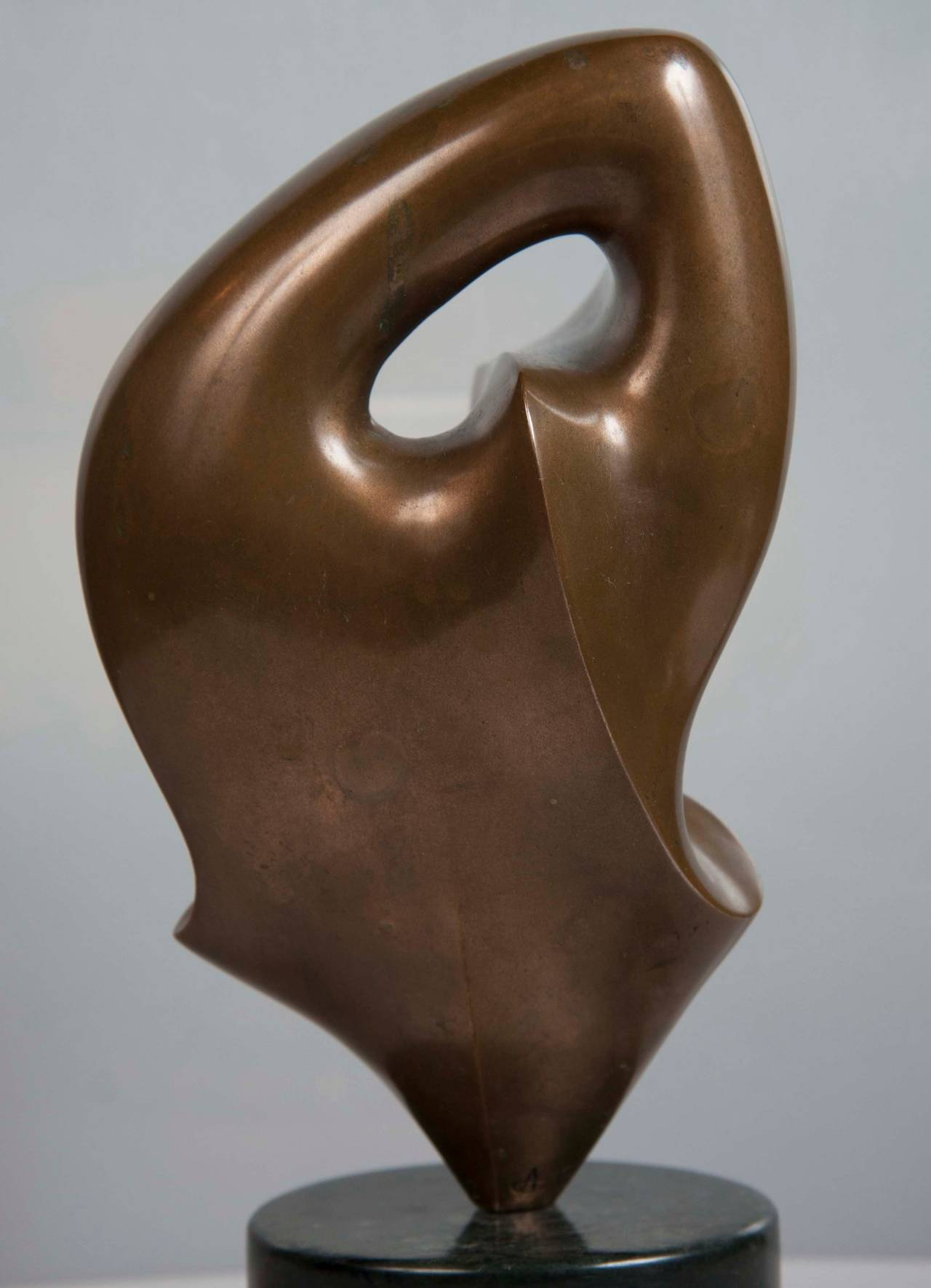 French Bronze Abstract Sculpture by Antoine Poncet For Sale