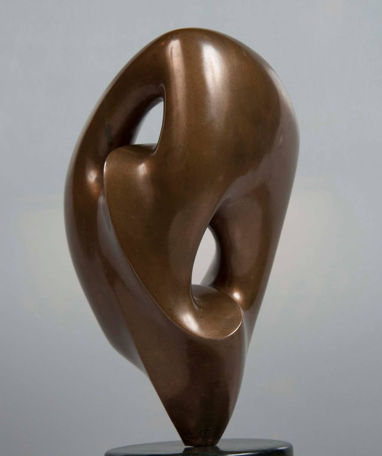 Bronze Abstract Sculpture by Antoine Poncet In Excellent Condition For Sale In Stamford, CT