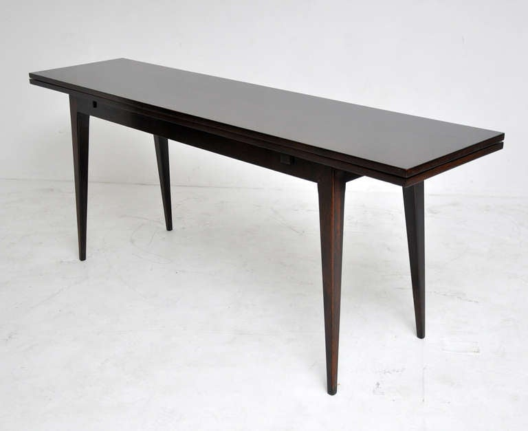 Flip Top Dining Or Console Table Designed By Edward Wormley For Dunbar