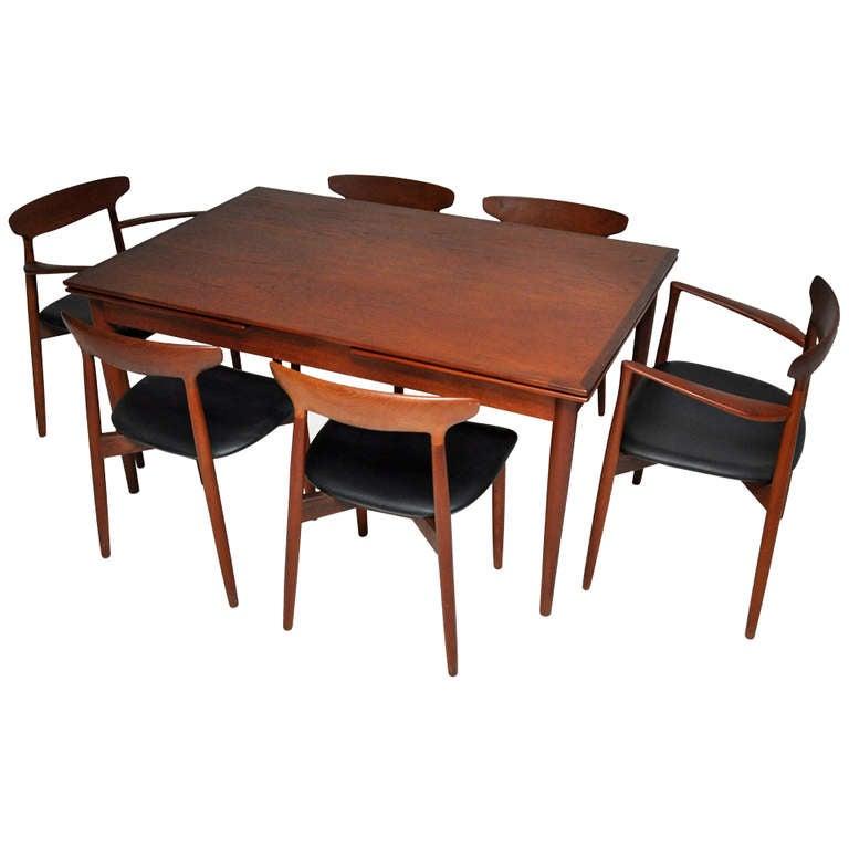 danish modern dining set harry ostergaard at 1stdibs