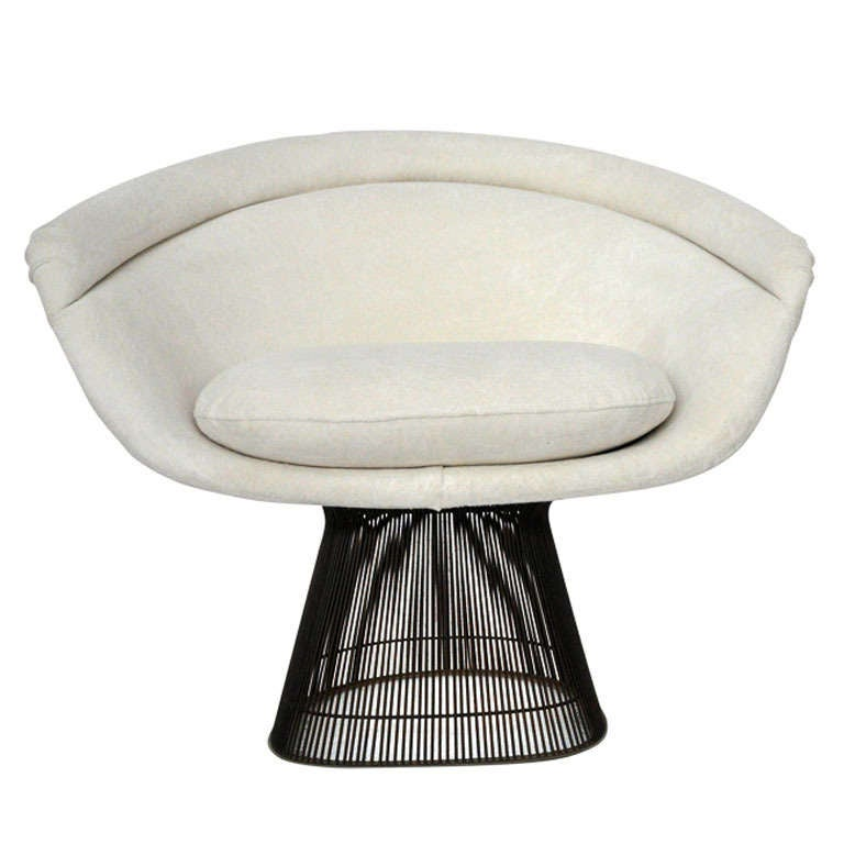 warren platner bronze lounge chair at 1stdibs