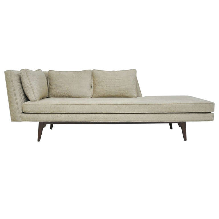 Dunbar chaise lounge by edward wormley at 1stdibs for Chaise longue or chaise lounge