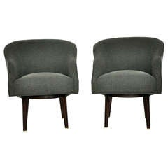 Dunbar Swivel Lounge Chairs by Edward Wormley