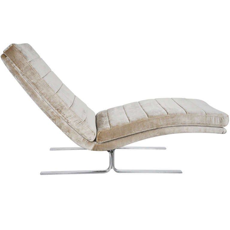 Chaise lounge by giovanni offredi at 1stdibs for Chaise lounge chicago