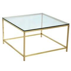 Harvey Probber Brass Coffee Table