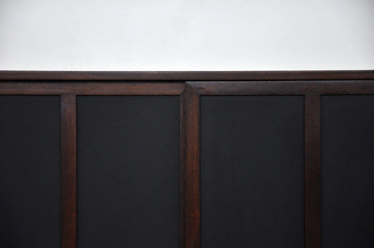 850 #5B4441 Harvey Probber Chest With Leather Doors At 1stdibs save image Harvey Doors 43271280
